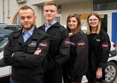 Personel agencji ochroniarskiej Omega Security w Warszawie