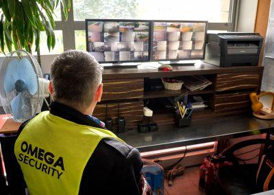 Omega Security - biuro agencji ochroniarskiej w Warszawie podczas pracy