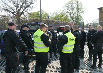 Omega Security - pracownicy agencji ochrony w Warszawie podczas pracy